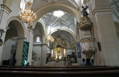 People in the Metropolitan Cathedral of Sucre, Bolivia Stock Photos
