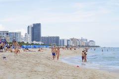 People on Miami Beach Stock Photography