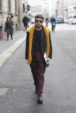 People at milan fashion week Royalty Free Stock Images