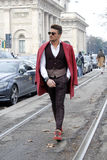 Mariano di vaio milan fashion week Royalty Free Stock Photos