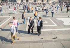 People in Milan Royalty Free Stock Photography