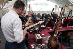 People at Milano Guitars & Beyond 2013 in Milan, I Royalty Free Stock Images