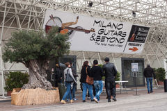 People at Milano Guitars & Beyond 2013 in Milan, Italy Stock Photo