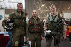 People at Militalia 2013 in Milan, Italy Stock Image