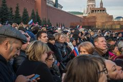 People on Military parade dedicated to the hisorical parade held stock images