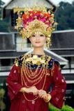 People of Minangkabau Stock Image