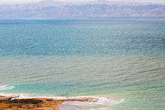 People in mineral mud in Dead Sea, Jordan Royalty Free Stock Photo