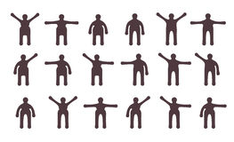People minimalistic icons set Stock Photo