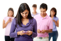 People on mobile phones Royalty Free Stock Image