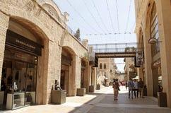 People at modern Mamilla shopping mall  in Jerusalem, Israel. Royalty Free Stock Photography