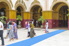 People in Monastery Stock Photo