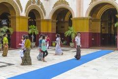 People in Monastery Stock Photos