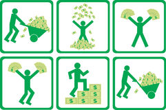 People with money  Royalty Free Stock Image