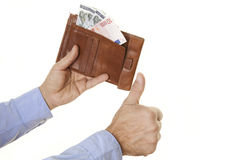 People with money Stock Photo