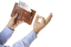 People with money Stock Image