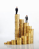 People and money coin Stock Photography