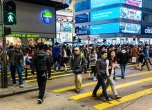 People in Mong Kok, Hong Kong, China Royalty Free Stock Image