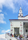 People at Monserrate Basilica in Bogota Colombia Royalty Free Stock Image