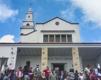 People at Monserrate Basilica in Bogota Colombia Stock Images