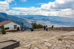 People on Monserrate Mountain Stock Images