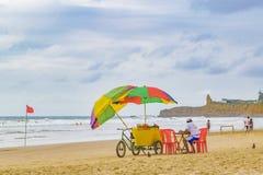 People at Montanita Beach Ecuador Royalty Free Stock Images