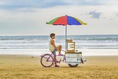 People at Montanita Beach Ecuador Royalty Free Stock Photography