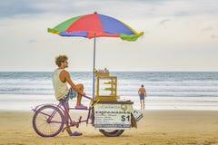People at Montanita Beach Ecuador Stock Image