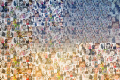 People mosaic background royalty free stock photo