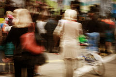 People in motion blur Stock Photo