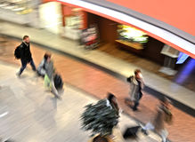 People in motion at the modern shopping mal Royalty Free Stock Photo
