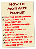 People motivation. How to motivate people into doing a great job Royalty Free Stock Photo