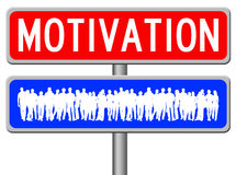 People motivation. Trying to motivate people and teams Royalty Free Stock Images