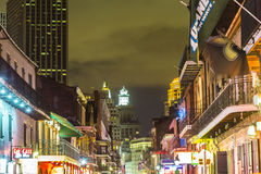 People on the move in the Bourbon street Stock Photography