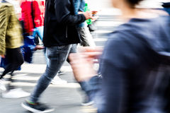 People on the move in the city in motion blur Royalty Free Stock Image
