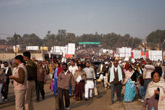 People movement on the Kumbh Mela Royalty Free Stock Photo
