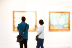 People in museum Royalty Free Stock Photos