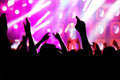 People on music concert, disco Royalty Free Stock Photography