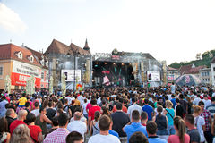 People at Music Festival Ursus Evolution at Piata Sfatului, Bras Stock Photo