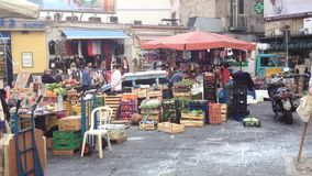 People in Naples old town stock video