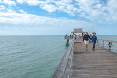 People at the Naples Pier Royalty Free Stock Photography