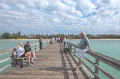 People at the Naples Pier Stock Images