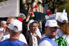 People at the National Unit Wage Protest Stock Photography