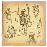 People, Natives. An hand drawn vector pack. Royalty Free Stock Images