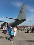 People on NATO Days event. Nato Days, Leos Janacek airport, Ostrava Mosnov, Czech Republic / Czechia - September 16, 2018: Air, army and security show in for stock photos