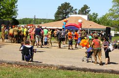 People at Naval Station Memphis Navy Mud Run. Stock Images