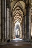 People in nave of Cologne Cathedral stock images