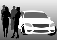 People near car Royalty Free Stock Images