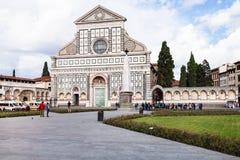 People near Church Santa Maria Novella di Firenze Stock Photography