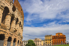 People near the Colosseum in Rome, Italy Royalty Free Stock Images
