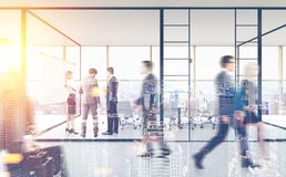 People near a meeting room, office lobby Stock Image